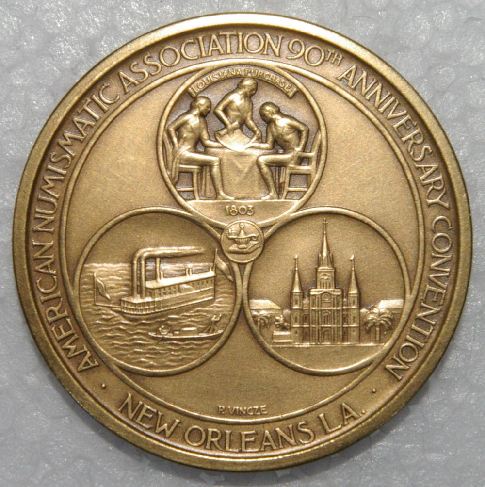 SOCIETY OF MEDALISTS #56, GOD CREATOR, BY DONALD DE LUE